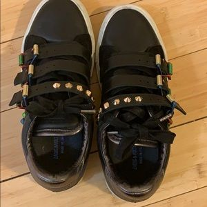 Black leather Zadig and Voltaire sneakers